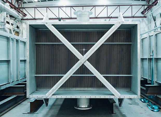 Flue gas condensator